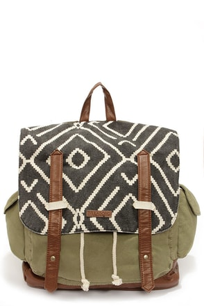 Billabong Past the Pier Army Green Backpack