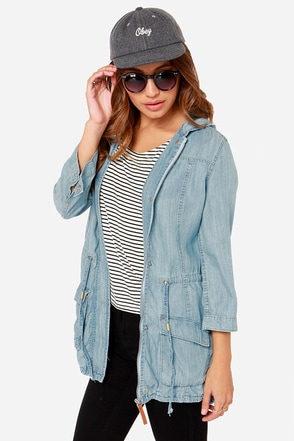 Dittos Willow Light Blue Anorak Jacket
