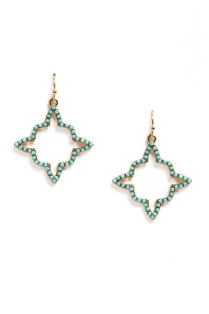 Marrakesh Goodnight Gold and Turquoise Earrings
