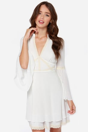Maiden Fair Cream Lace Dress at Lulus.com!