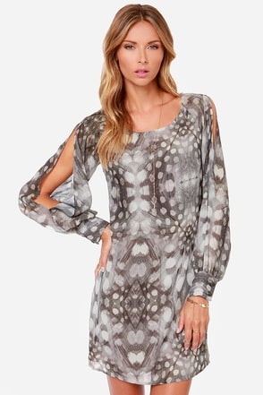 Black Swan Adele Grey Print Dress