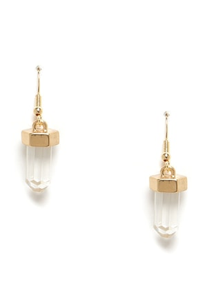 Crystal Gazing Gold Crystal Earrings
