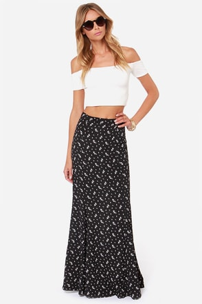 Lucy Love Sweet Jane Black Maxi Skirt