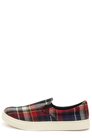 Madden Girl Emmie Plaid Slip-On Sneakers