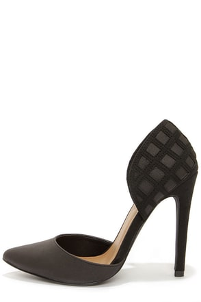 Michael Antonio Jalena Black Pointed D'Orsay Heels