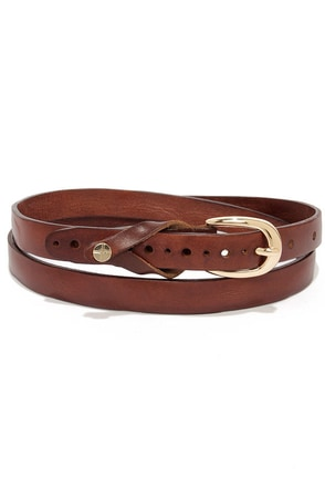 Notch Your Problem Brown Leather Belt