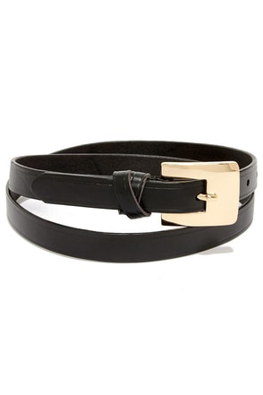 Martial Artist Black Leather Belt
