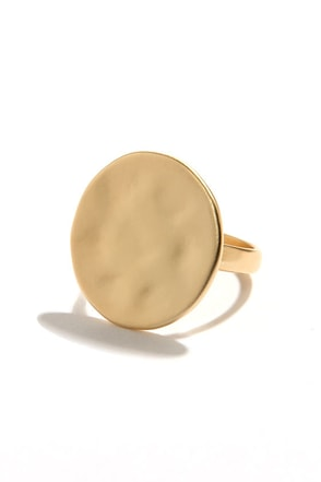 Another Round Gold Ring