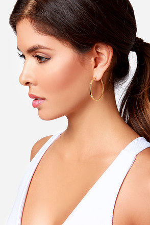 Alley Hoop Gold Hoop Earrings