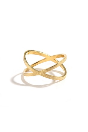 X-press Yourself Gold Ring at Lulus.com!
