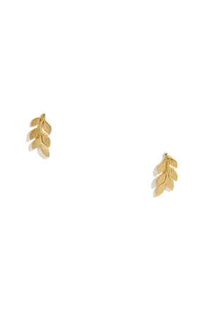Branching Out Gold Earrings