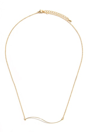 Smile and Wave Gold Necklace