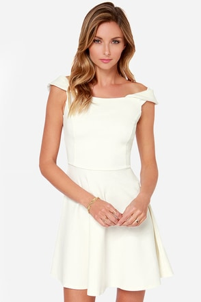 Refined Dining Ivory Dress