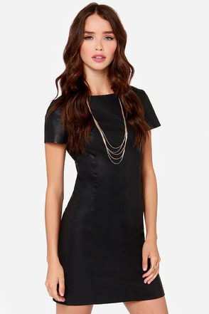 BB Dakota Dalrie Black Vegan Leather Dress