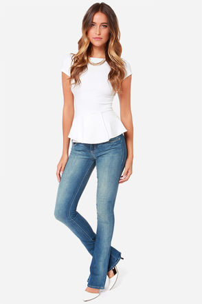 Dittos Breana Mid Rise Skinny Flare Jeans