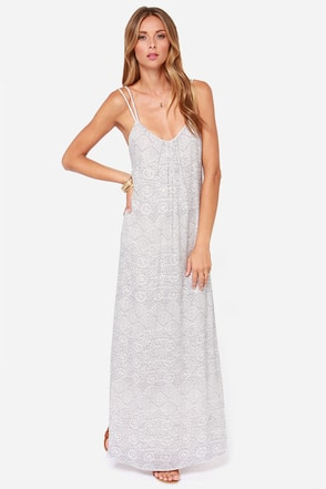 O'Neill Nevada Cream Print Maxi Dress