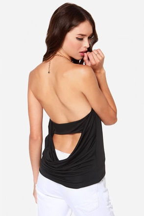 Ch-ch-ch-Chain-ges Black Halter Top