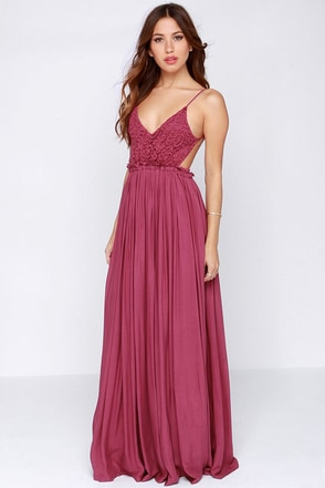 Blooming Prairie Crocheted Pink Maxi Dress