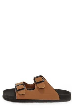 Bamboo Ringo 03 Chestnut Slide Sandals