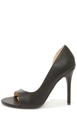 Anne Michelle Rapture 89 Black D'Orsay Heels