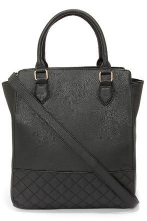 Quilt While You're Ahead Black Tote