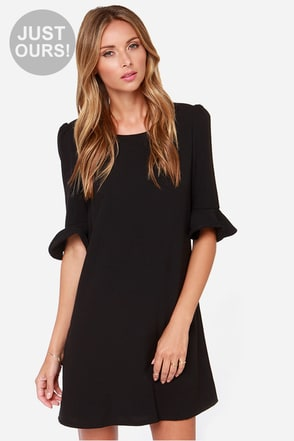 LULUS Exclusive Sunset Stroll Black Dress