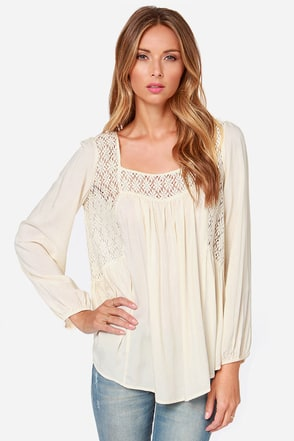 Upper Echelon Cream Lace Top