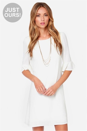 LULUS Exclusive Sunset Stroll Ivory Dress