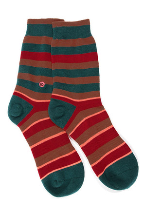 Stance Charlie Teal Striped Socks