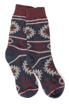 Stance Nu Native Denim Blue Southwest Print Socks
