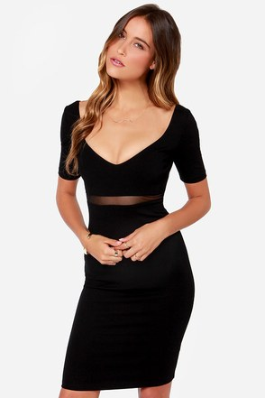 Don't Mesh Around Ivory Midi Dress at Lulus.com!