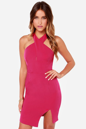 Keepsake Motionless Fuchsia Dress