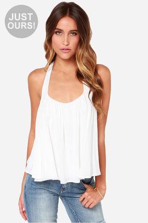 LULUS Exclusive Flare-y Princess Ivory Top