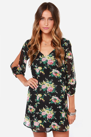 Bou-Crazy About You Cream Floral Print Dress