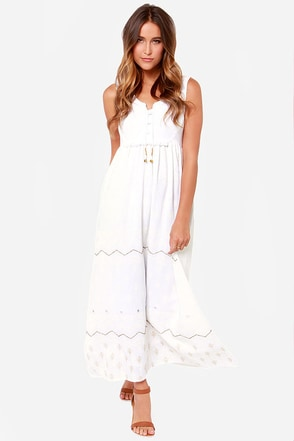 Billabong Seacret Love Ivory Maxi Dress