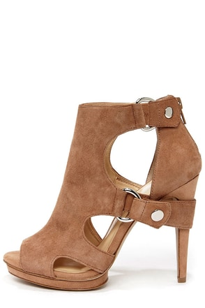 Jessica Simpson Faina Mauve Kid Suede High Heel Booties