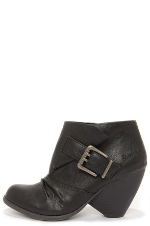 Blowfish Malia Grey Fawn Suede Cone Heel Booties