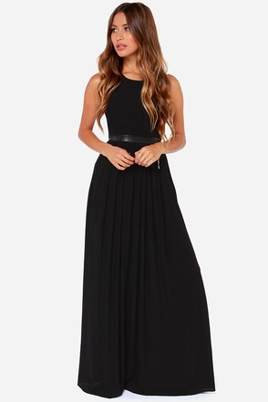 Black Swan Bacall Black Maxi Dress at Lulus.com!