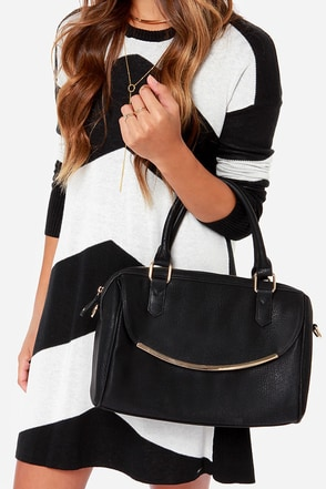 Happy Day Black Handbag