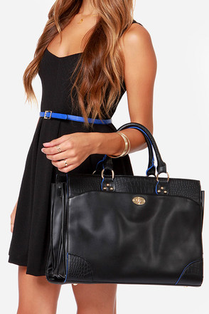 Hit the Big Time Black Handbag