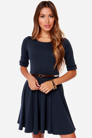 Others Follow Sharon Navy Blue Dress