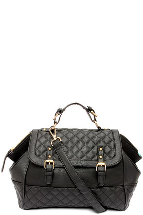Not Quilty Black Quilted Handbag