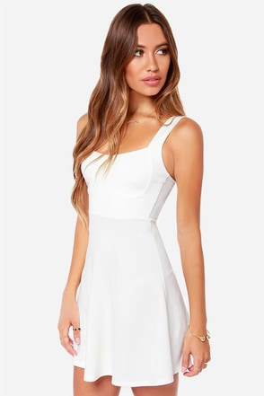Into The Night Ivory Dress
