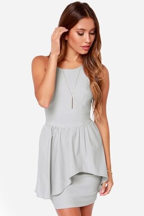 Save the Last Dance Light Grey Dress