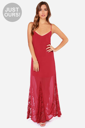 LULUS Exclusive Under The Full Swoon Berry Pink Maxi Dress