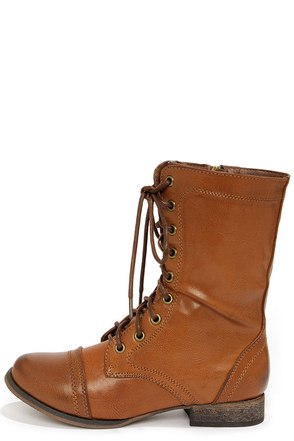 Georgia 72 Tan Lace-Up Combat Boots