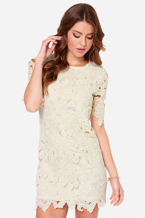 Lacy Luck Cream Lace Dress