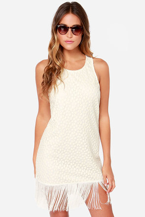 La Boheme Fatale Cream Lace Dress
