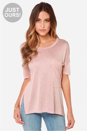 LULUS Exclusive Oversize Me Grey Tee at Lulus.com!