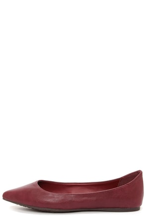 Talia 11W Berry Red Pointed Flats